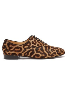 Christian Louboutin Fred leopard-print calf-hair oxford shoes