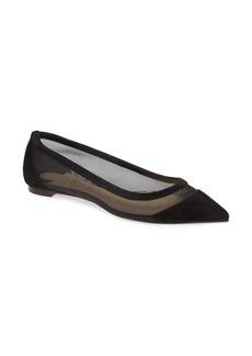 Christian Louboutin Galativi Mesh Pointy Toe Flat (Women)