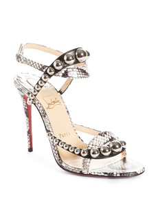Christian Louboutin Galeria Ornament Genuine Snakeskin Sandal (Women)