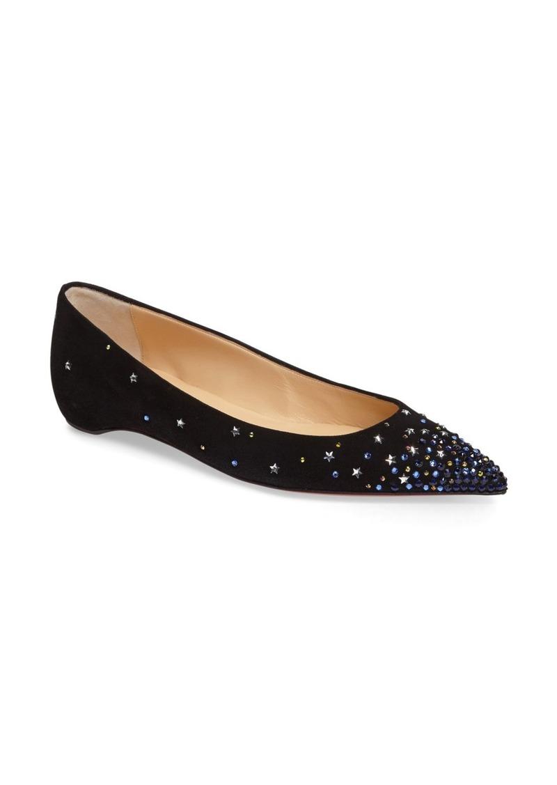 Christian Louboutin Gravitanita Starry Embellished Flat