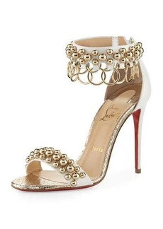 Christian Louboutin Gypsandal Ring-Trim 100mm Red Sole Sandal