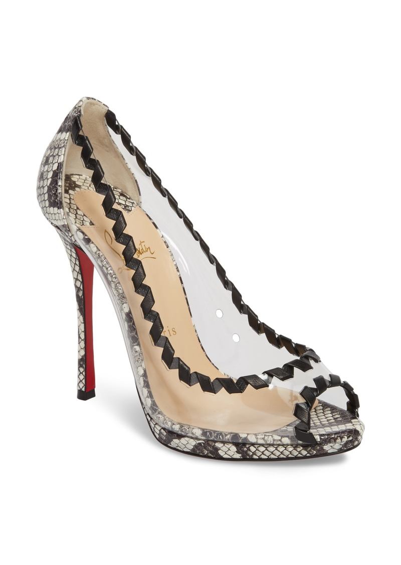 reputable site 749a5 44e9d Christian Louboutin Christian Louboutin Hargaret Genuine Snakeskin Pump  (Women) | Shoes