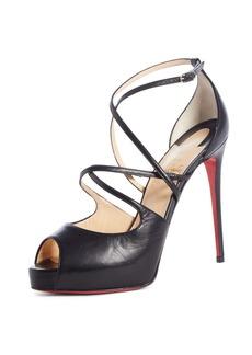 Christian Louboutin Holly Alta Peep Toe Platform Sandal (Women)