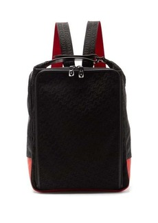 Christian Louboutin Hop'n'Zip logo-embossed canvas backpack