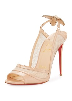Christian Louboutin Hot Spring Butterfly 100mm Red Sole Pump