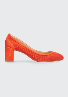Christian Louboutin Incastrana Suede Red Sole Pumps