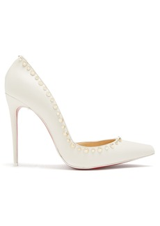 Christian Louboutin Irishell 100 spike-embellished leather pumps