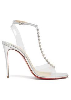 Christian Louboutin Jamais 100 studded mirrored-leather sandals