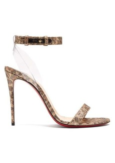 Christian Louboutin Jonatina 100 leopard-print leather sandals