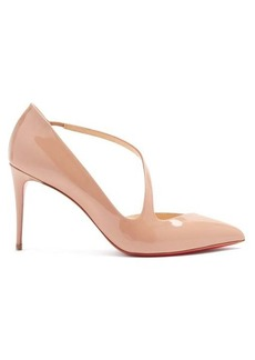 Christian Louboutin Jumping 85 patent-leather pumps