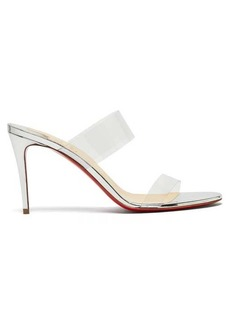 Christian Louboutin Just Nothing 85 plexi-strap leather sandals