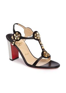 Christian Louboutin Kaleitop Embellished Block Heel Sandal