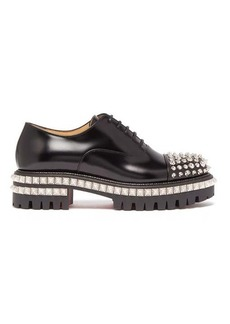 Christian Louboutin Kings Road studded leather oxford shoes