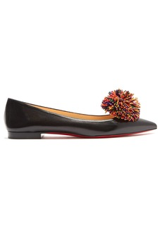 Christian Louboutin Konstantina pompom-embellished leather flats