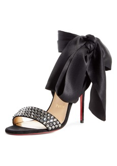 Christian Louboutin Krystal du Desert Spike Ankle Wrap Sandal (Women)