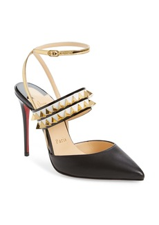Christian Louboutin Lady Proved Studded Ankle Strap Pump (Women) (Nordstrom Exclusive)