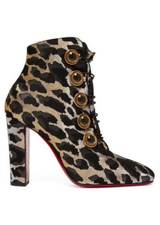 Christian Louboutin Lady See 100 leopard-print ankle boots