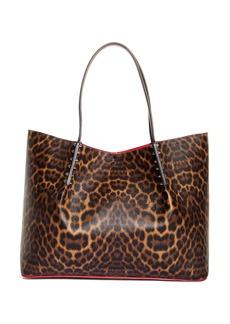 Christian Louboutin Large Cabarock Leopard Print Leather Tote