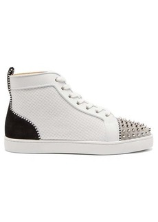 Christian Louboutin Lou spike-embellished high-top trainers