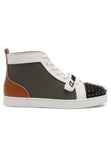 Christian Louboutin Lou spike-embellished high-top leather trainers
