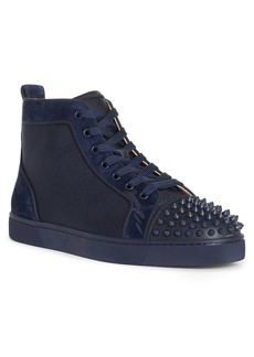 Christian Louboutin Lou Spikes Orlato High Top Sneaker (Men)
