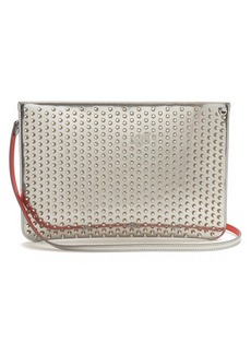 Christian Louboutin Loubi spike-embellished leather clutch