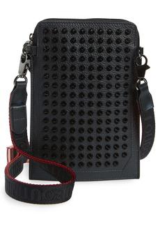 Christian Louboutin Loubilab Spiked Leather Crossbody Bag
