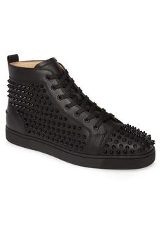 Christian Louboutin Louis Allover Spikes High Top Sneaker (Men)