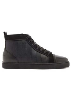 Christian Louboutin Louis high-top chevron-panel leather trainers