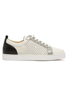 Christian Louboutin Louis Junior perforated-leather trainers