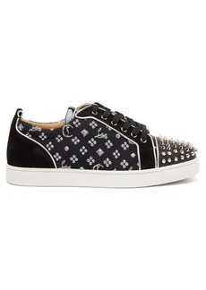 Christian Louboutin Louis Junior spike jacquard trainers