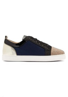 Christian Louboutin Louis Junior Strass Orlato mesh trainers