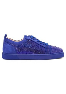 Christian Louboutin Louis Junior Strass-crystal suede trainers
