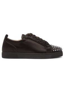 Christian Louboutin Louis Junior studded satin trainers
