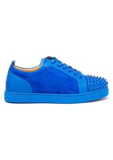 Christian Louboutin Louis Junior studded-toe suede trainers