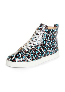 Christian Louboutin Louis Orlato Patent Leather High Top Sneaker (Men)