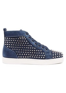 Christian Louboutin Louis Orlato studded suede high-top trainers