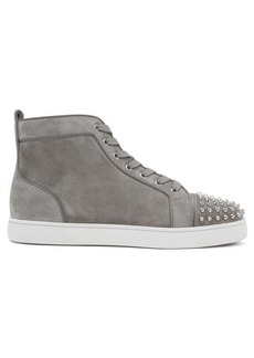 Christian Louboutin Louis spike-embellished high-top suede trainers