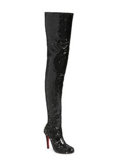 Christian Louboutin Louise Sequin Thigh High Boot (Women)