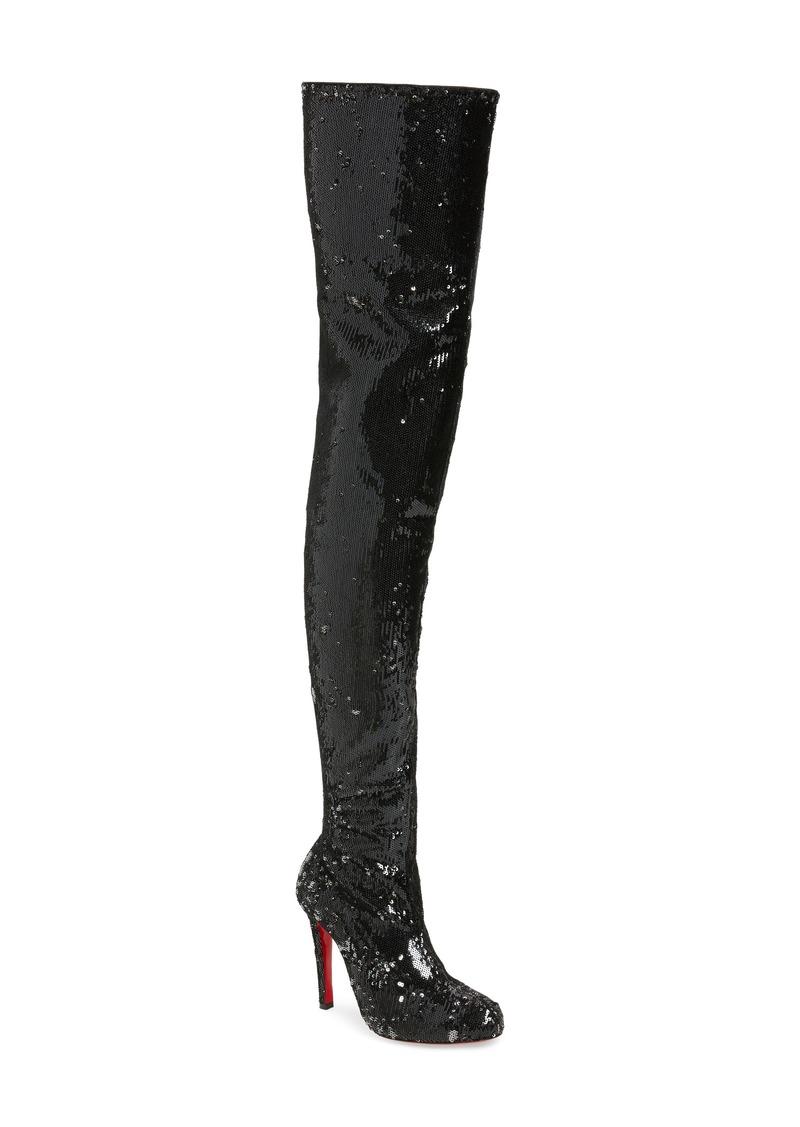 timeless design c1adb 0e28e Christian Louboutin Christian Louboutin Louise Sequin Thigh High Boot  (Women) | Shoes