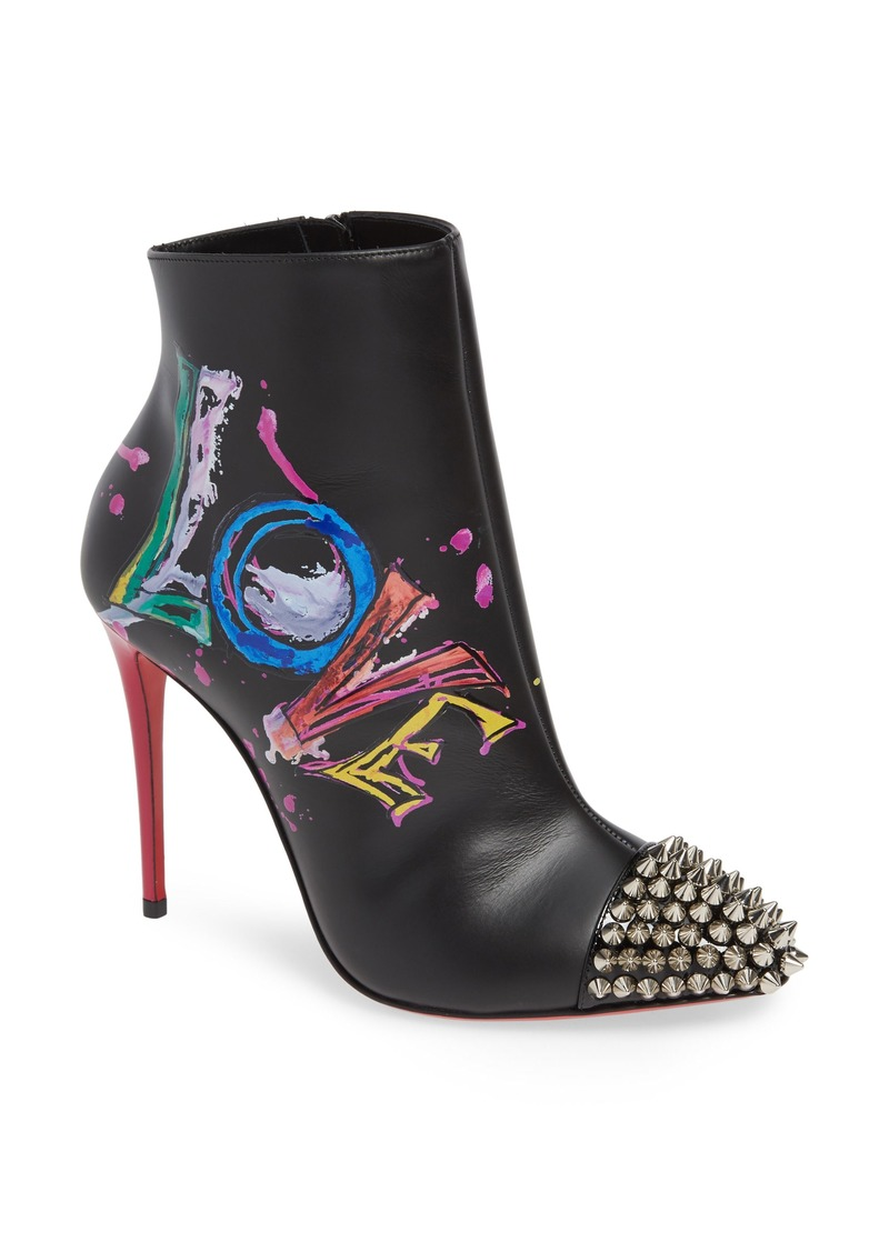 f3de4170c874 Christian Louboutin Christian Louboutin Love Is A Boot Spiked Bootie ...