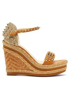Christian Louboutin Madmonica 120 studded wedge sandals