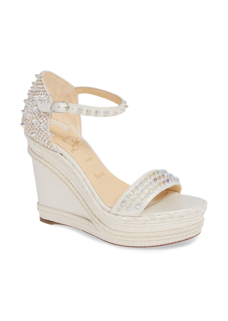 Christian Louboutin Madmonica Spike Wedge Sandal (Women)