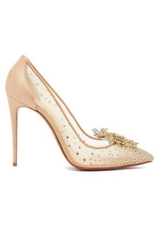 Christian Louboutin Marenude 100 crystal-embellished mesh pumps