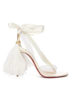 Christian Louboutin Marie Edwina 100 satin sandals