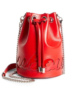 Christian Louboutin Marie Jane Logo Leather Bucket Bag
