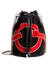 Christian Louboutin Marie Jane Love Suede Bucket Bag