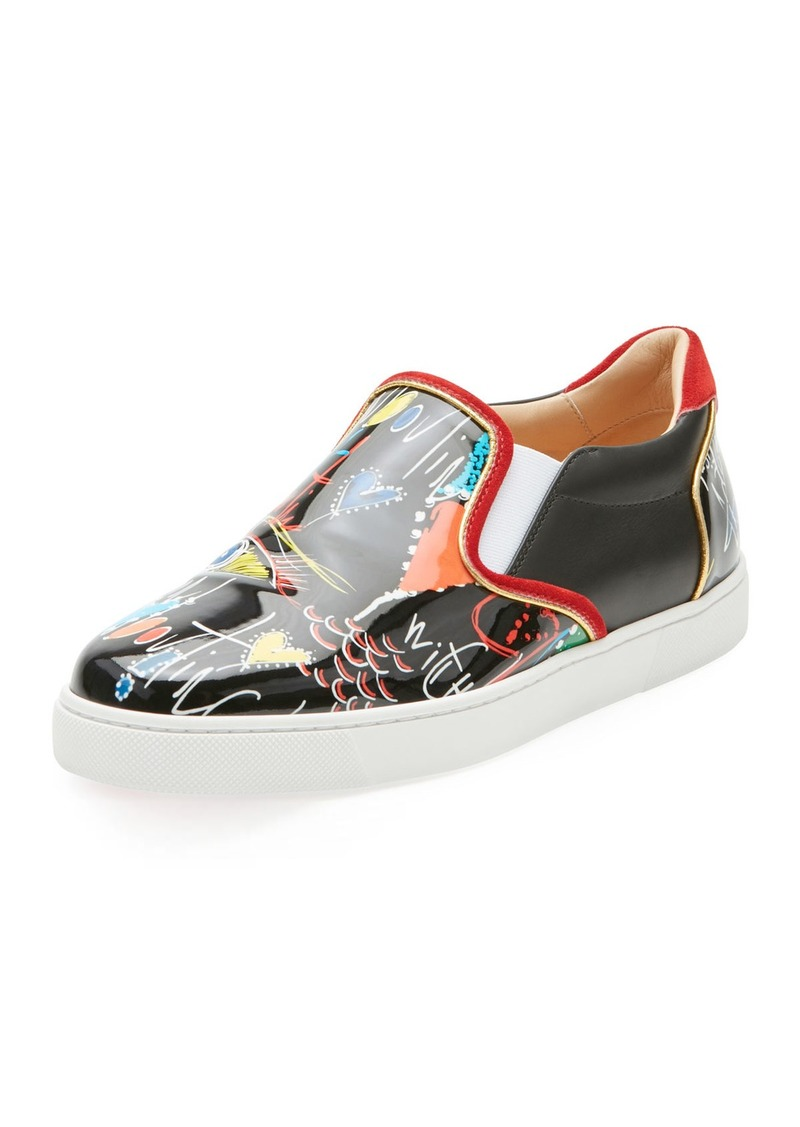 release date 11349 22f2d Christian Louboutin Christian Louboutin Masteralta Patent Red Sole Sneaker  | Shoes