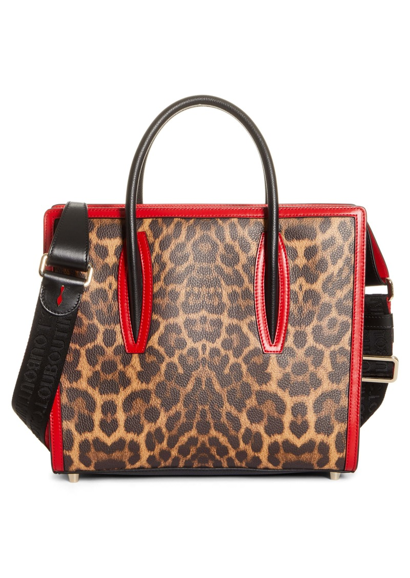 Christian Louboutin Medium Paloma Leopard Print Leather Tote (Nordstrom Exclusive)
