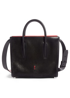 Christian Louboutin Medium Paloma Snakeskin Embossed Leather Satchel